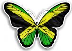 Beautiful Butterfly With Jamaica Jamaican Country Flag Vinyl Car Sticker 130x90mm